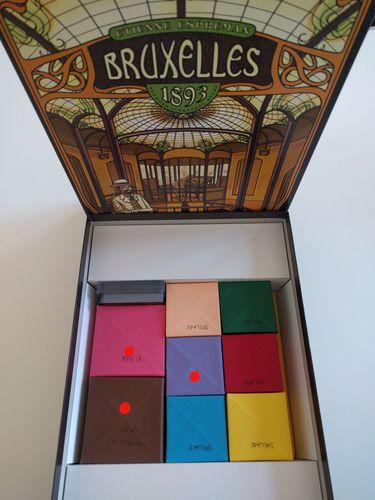 Caixas Origami para armazenar componentes do jogo Bruxelles