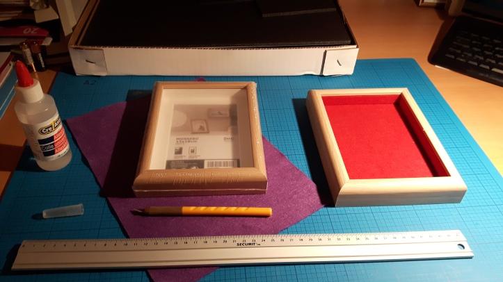 Materiais para fazer uma bandeja de dados