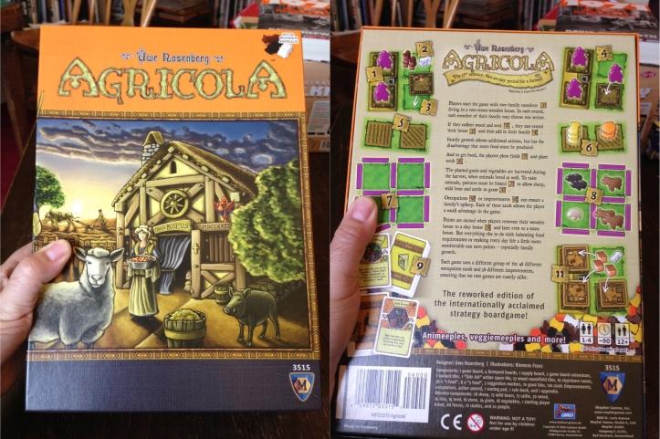 Modo solo jogo de tabuleiro Agricola