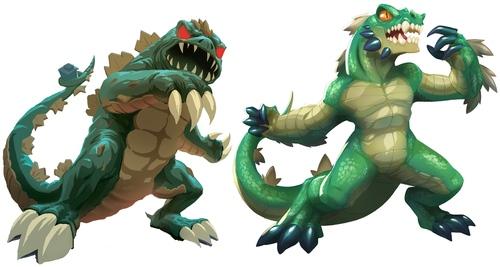 Monstros do Jogo de tabuleiro King of Tokyo
