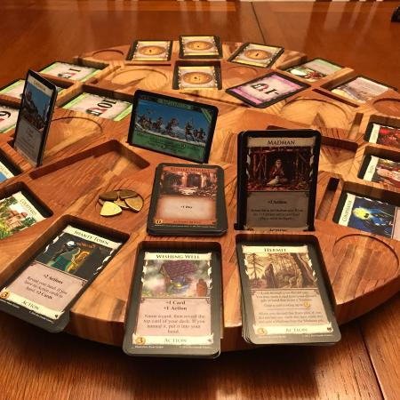 Mesa giratória jogo de tabuleiro Dominion