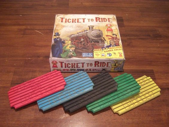 Acessório para organizar trens jogo Ticket to Ride