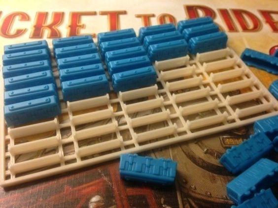 Organizador de trens de plástico do jogo Ticket To Ride