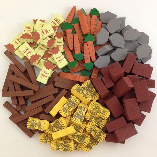 Componentes personalizados para o jogo de tabuleiro Agricola