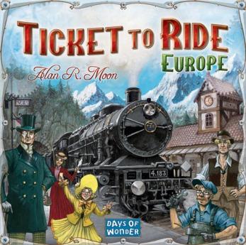 Ticket To Ride Europe Caixa