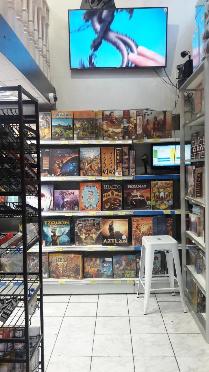 Jogos de tabuleiro na loja Entrejuegos em Santiago