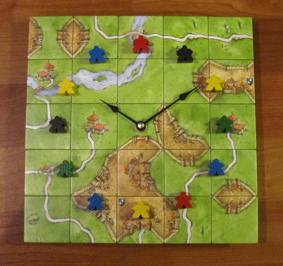 Relógio de parede inspirado no Carcassonne
