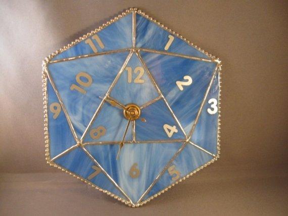 Um relógio baseado num D20