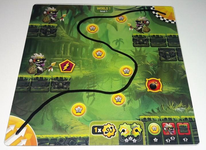 Tabuleiro do jogo Loony Quest