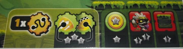 Trilha de ação do Tabuleiro do Jogo de tabuleiro Loony Quest