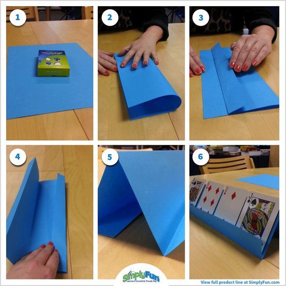 Card Holder feito de papel, faça você mesmo