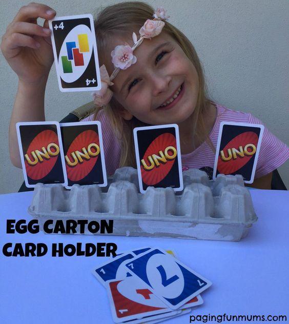Card Holder feito de bandeja de ovo