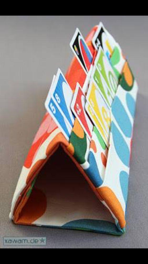 Card Holder feito de pano