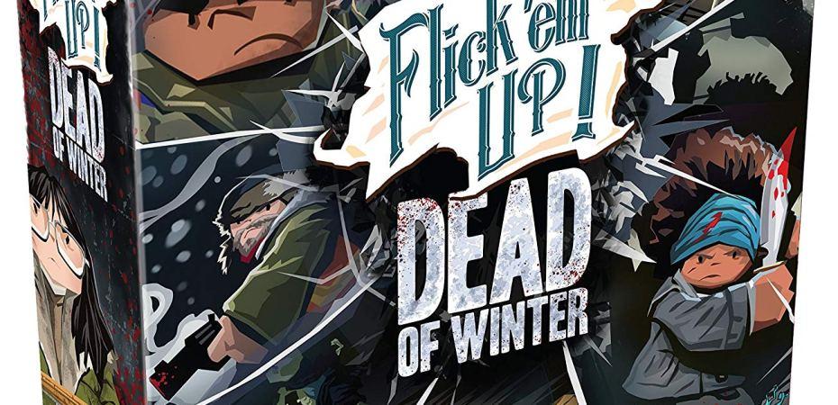 Jogo de tabuleiro Flick 'Em Up Dead of Winter