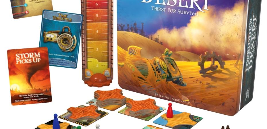 Jogo de tabuleiro Forbidden Desert