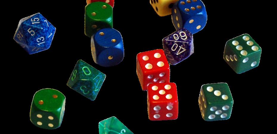7 jogos de dados com idéias diferentes