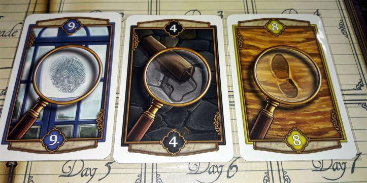 Cartas de pista jogo de tabuleiro Holmes & Mycroft