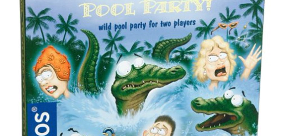 Jogo de tabuleiro Crocodile Pool Party