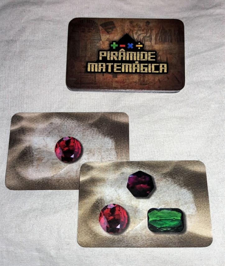 Cartas de tesouro do jogo Pirâmide Matemágica
