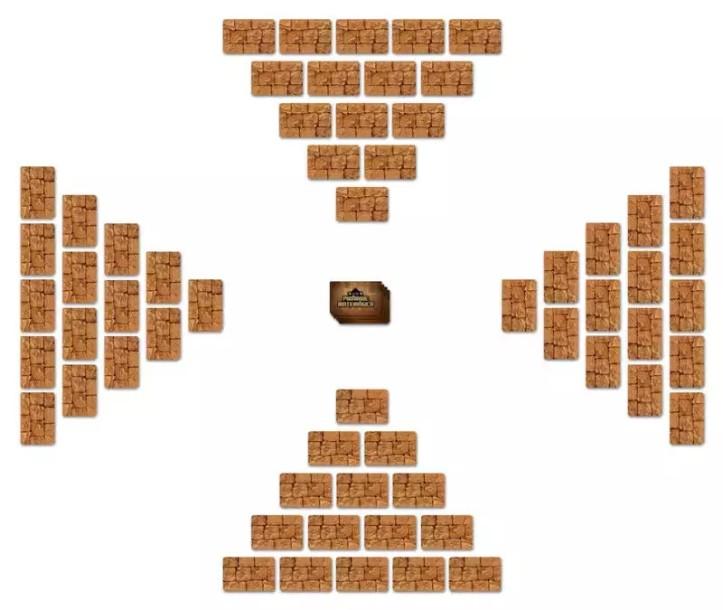 Formato da pirâmide do jogo Pirâmide Matemágica