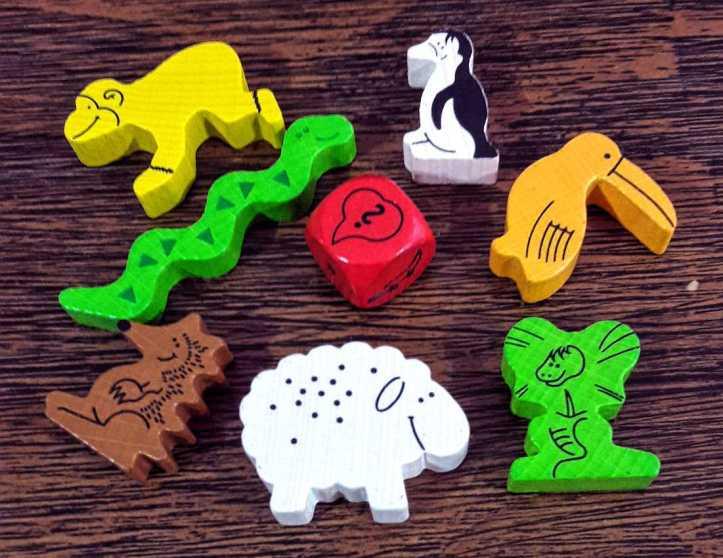 Animais de madeira do jogo infantil Animal Upon Animal