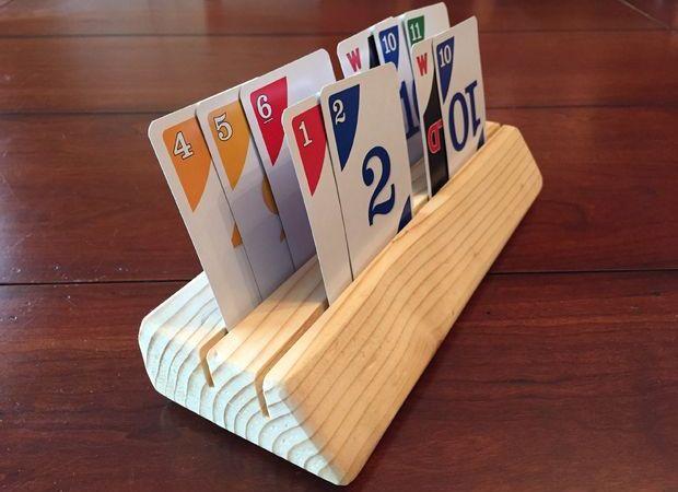Card Holder de madeira