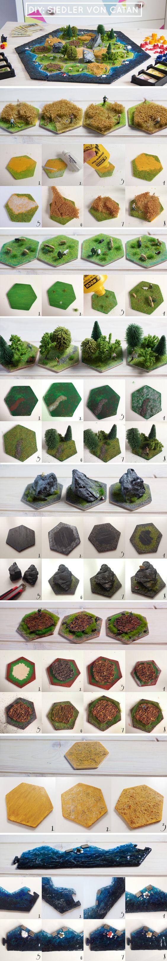 Como fazer um tabuleiro 3D para o jogo Catan