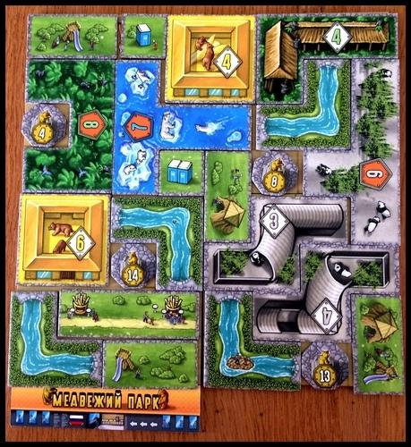 Tabuleiro completo do jogo Barenpark