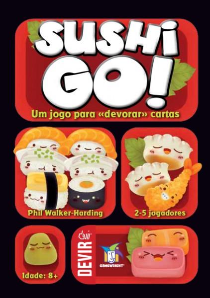 Capa da lata do jogo de cartas Sushi Go!