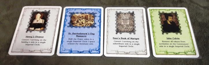 Cartas de bônus do Jogo de tabuleiro Sola Fide: The Reformation