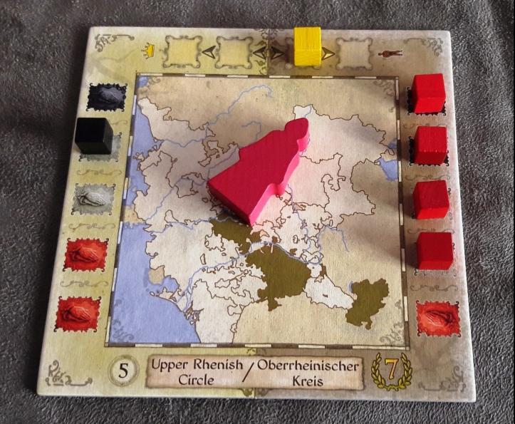 Territórios do Jogo de tabuleiro Sola Fide: The Reformation
