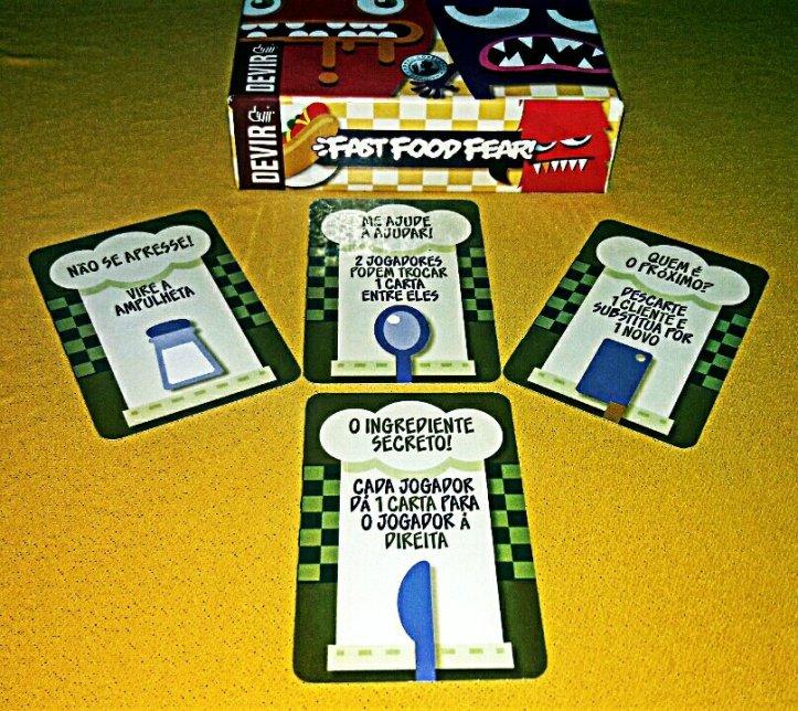 Combinação de cartas Jogo de Tabuleiro Fast Food Fear