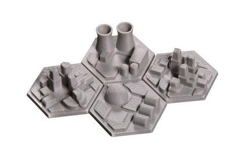 Colônias 3D para o jogo Terraforming Mars