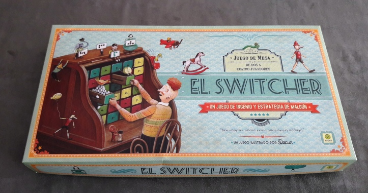 Uma bela caixa do jogo de tabuleiro argentino El Switcher