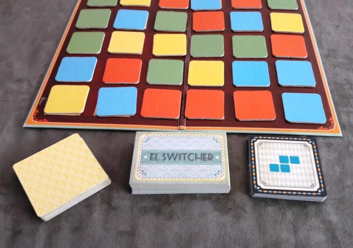 Peças e cartas do jogo El Switcher