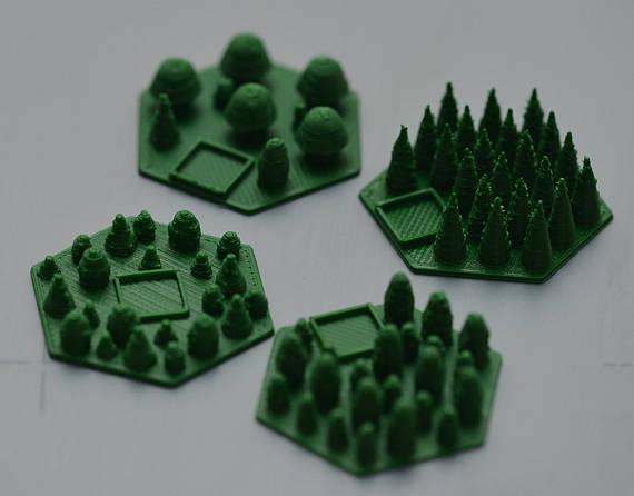 Mais peças em 3D para o jogo Terraforming Mars