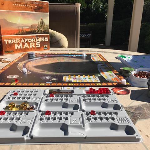 Tabuleiro individual para o jogo Terraforming Mars