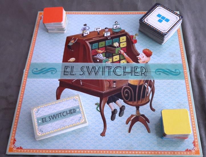 Verso do Tabuleiro jogo argentino El Switcher