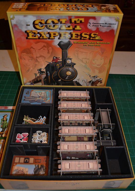 Insert do jogo de tabuleiro Colt Express