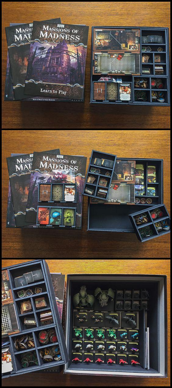 Insert do jogo de tabuleiro Mansion of Madness