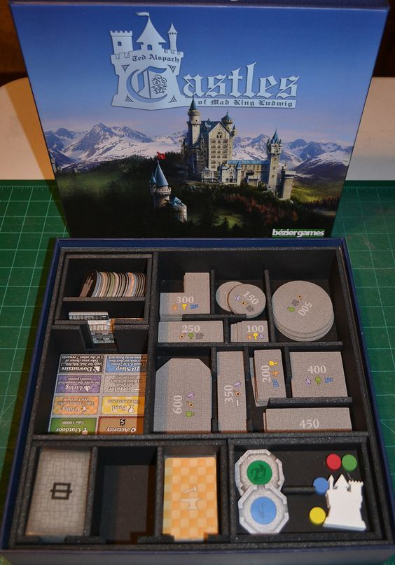 Insert do jogo de tabuleiro Castles of the Mad King Ludwig