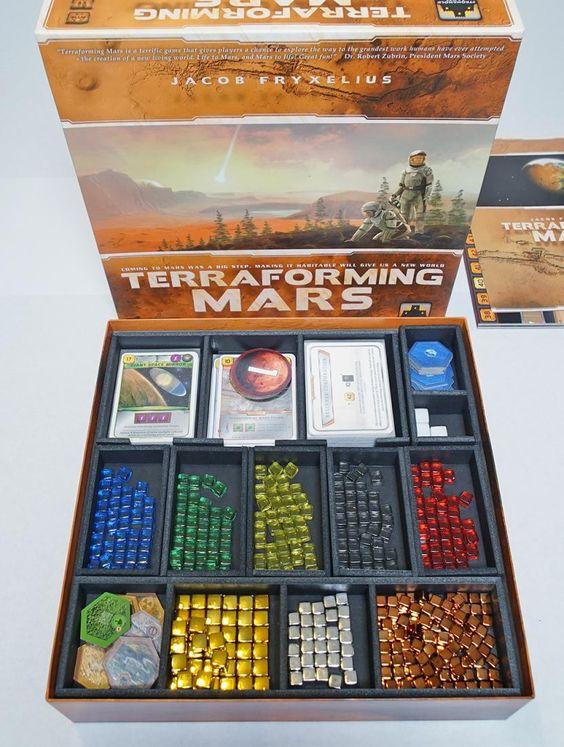 Insert do jogo de tabuleiro Terraforming Mars
