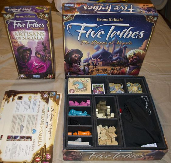 Insert do jogo de tabuleiro Five Tribes