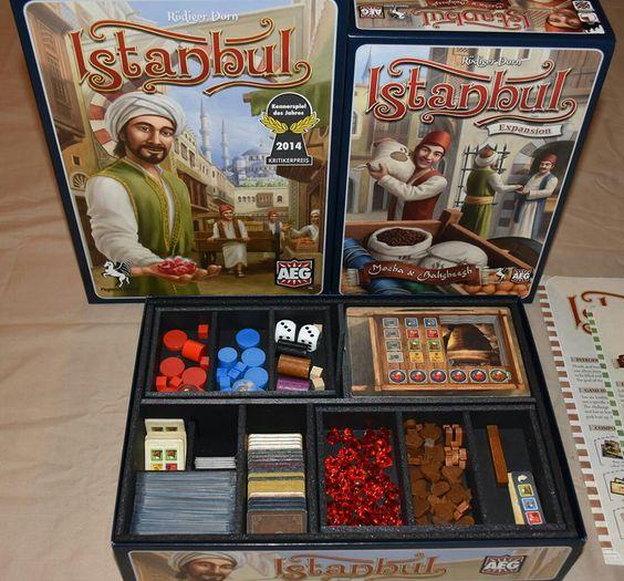 Insert do jogo de tabuleiro Istanbul