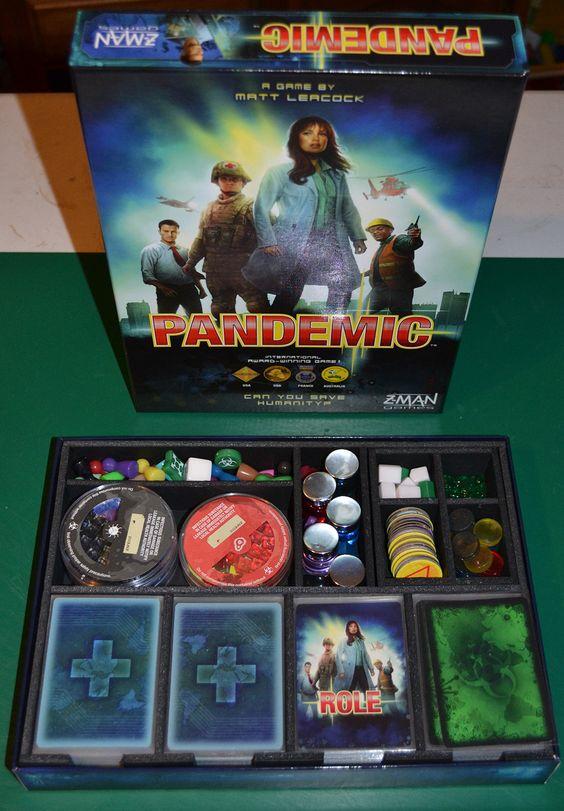 Insert do jogo de tabuleiro Pandemic