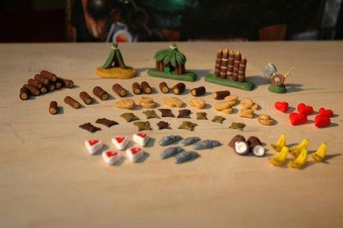 Componentes customizados para jogo Robinson Crusoe