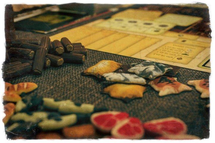 Componentes muito bacanas para jogo Robinson Crusoe