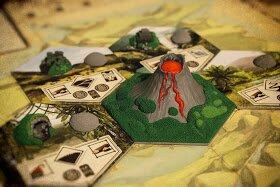 Tile de vulcão customizado para jogo Robinson Crusoe