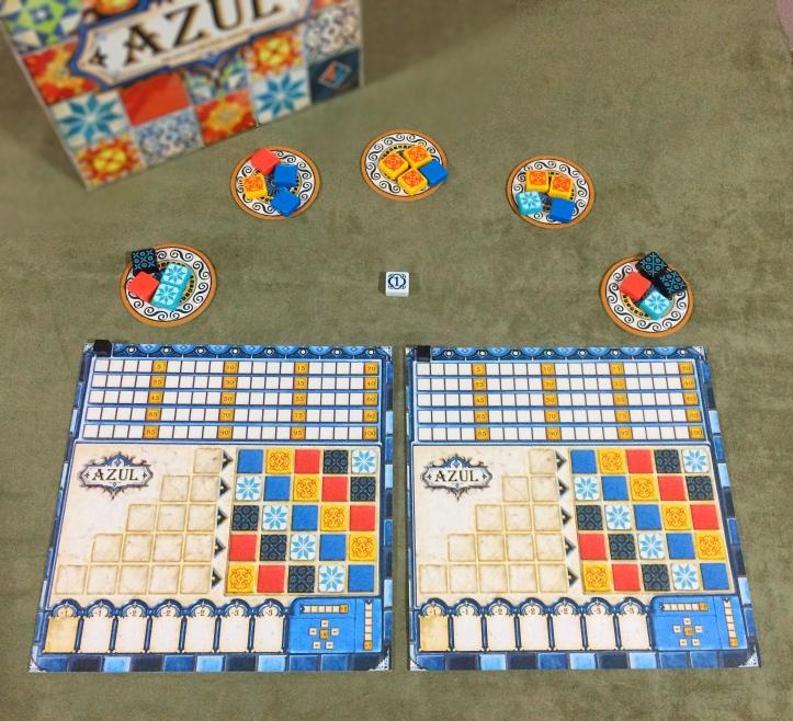 Componentes Jogo de tabuleiro AZUL
