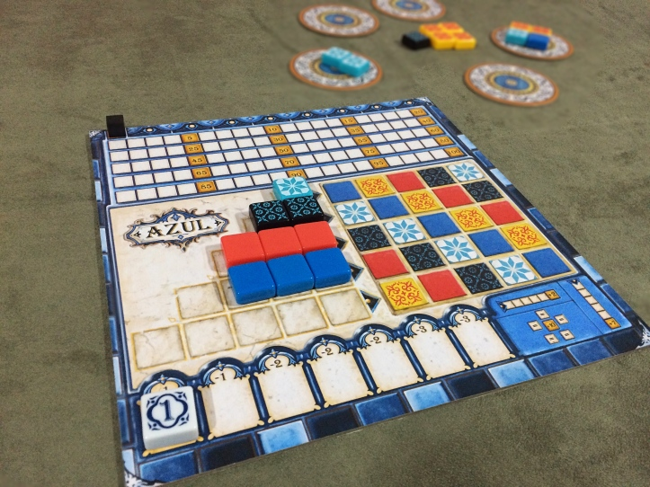 Complete suas fileiras no jogo AZUL